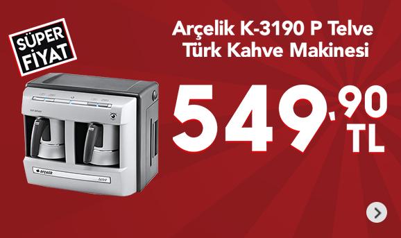 Arçelik K-3190 P Telve Türk Kahve Makinesi 549,90 TL