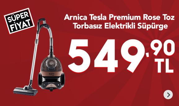 Arnica Tesla Premium Rose Toz Torbasız Elektrikli Süpürge 549,90 TL
