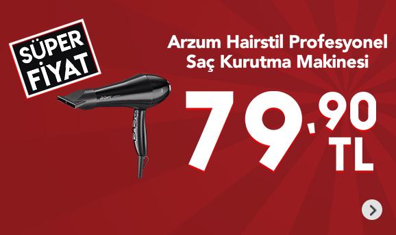 Arzum AR5016 Hairstil Profesyonel Saç Kurutma Makinesi 79,90 TL
