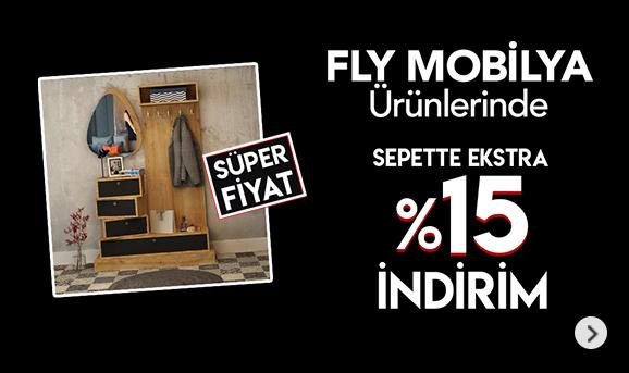 Fly Mobilya ürünlerinde sepette %15 İndirim