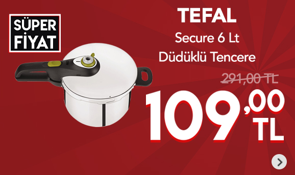 Tefal Secure 5 Neo V2 6 Lt Düdüklü Tencere 109 TL