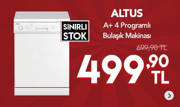 Altus AL-434 C A+ 4 Programlı Bulaşık Makinesi 499,90 TL