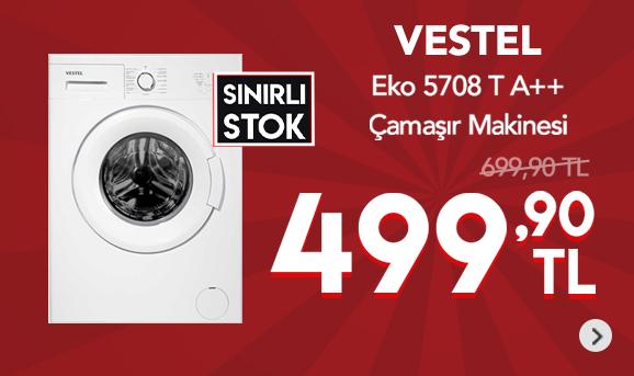 Vestel Eko 5708 T A++ Çamaşır Makinesi 499,90 TL