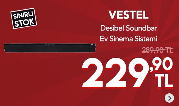 Vestel Desibel Sba120 Soundbar Ev Sinema Sistemi 229,90 TL