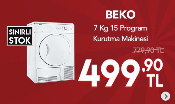 Beko D70 KTİ 7 Kg 15 Program Yoğunlaştırmalı Kurutma Makinesi 499,90 TL