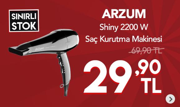 Arzum AR5007 Shiny 2200 W Saç Kurutma Makinesi 29,90 TL