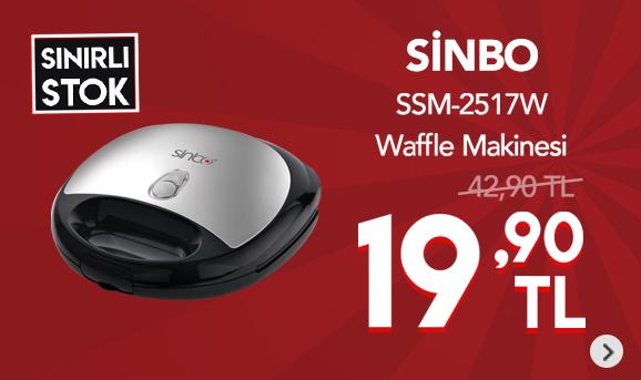 Sinbo SSM-2517W Waffle Makinesi 19,90 TL