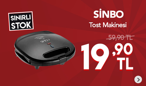 Sinbo SSM-2513 Tost Makinesi 19,90 TL
