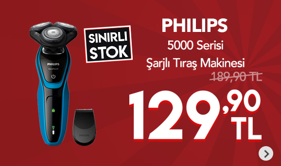 Philips 5000 Serisi S5050/06 Islak Kuru Şarjlı Tıraş Makinesi 129,90 TL