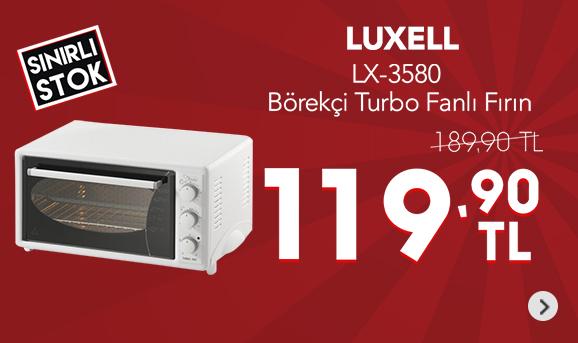 Luxell LX-3580 Börekçi Turbo Fanlı Fırın 119,90 TL