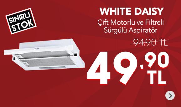 White Daisy YF4 Çift Motorlu Çift Filtreli Sürgülü Aspiratör 49,90 TL