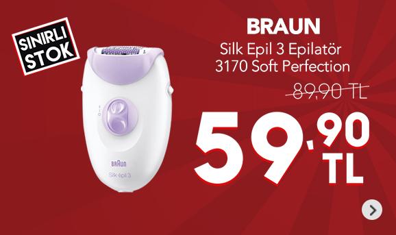 Braun Silk Epil 3 3170 Soft Perfection Epilatör 59,90 TL