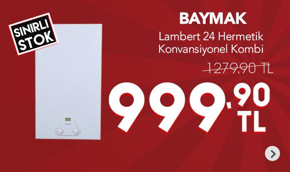 Baymak Lambert 24 LX FI 24,8 Kw 21300 Kcal/h Hermetik Konvansiyonel Kombi 999,90 TL