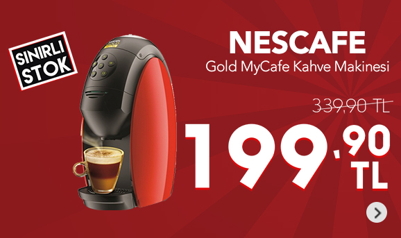 Nescafe Gold MyCafe Kahve Makinesi Ateş Kırmızısı 199,90 TL