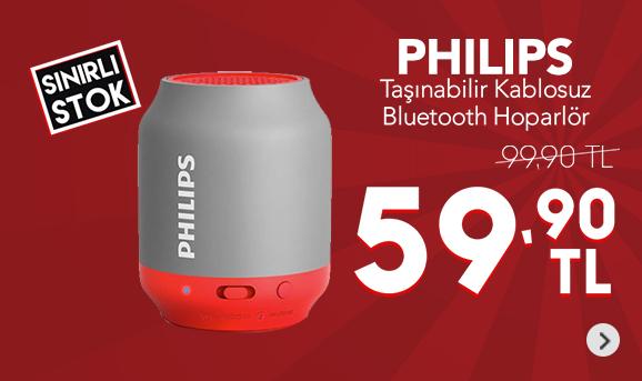 Philips BT50G/00 Taşınabilir Kablosuz Bluetooth Hoparlör Gri 59,90 TL