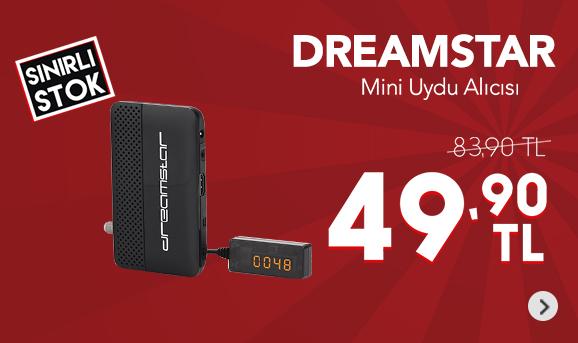 Dreamstar DreaMini USB Media Player + Full HD Mini Uydu Alıcısı 49,90 TL