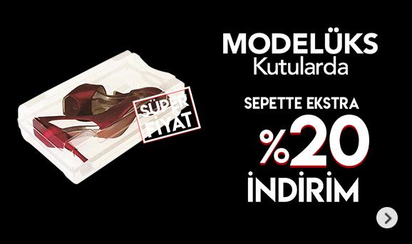 Modelüks Kutularda Sepette %20 İndirim