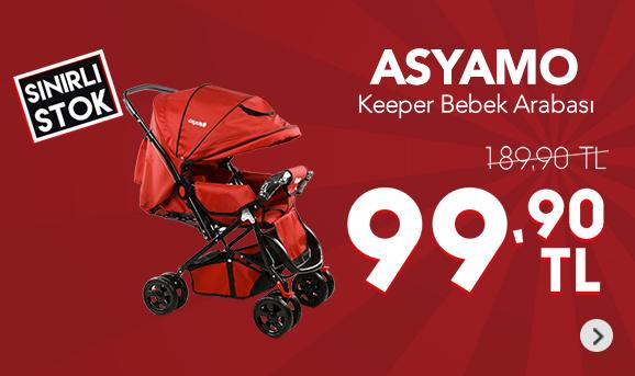 Asyamo Keeper Çift Yönlü Tam Kapanır Tente Bebek Arabası 99,90 TL
