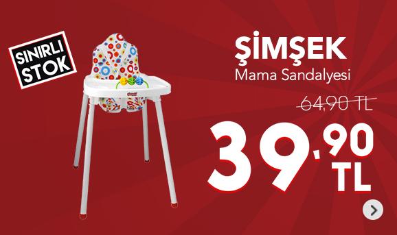 Şimşek Mama Sandalyesi 39,90 TL