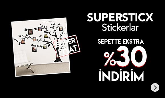 Supersticx Stickerlarda Sepette %30 İndirim