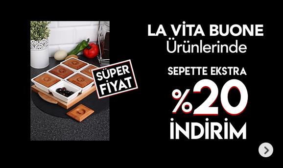 La Vita Buone Ürünlerinde Sepette %20 İndirim