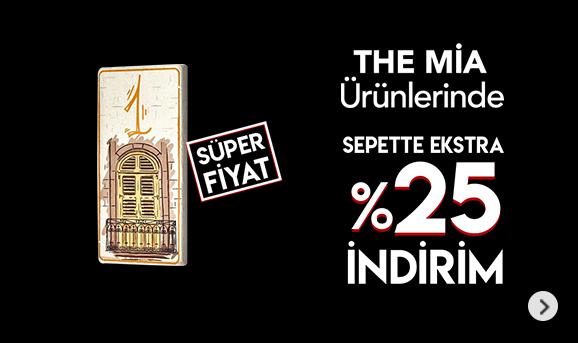 The Mia ürünlerinde Sepette %25 İndirim