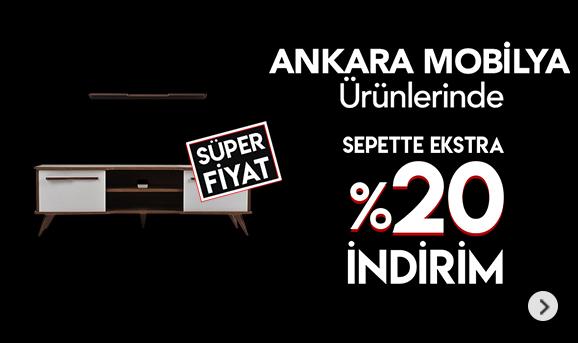 Ankara Mobilya Ürünlerinde Sepette %20 İndirim