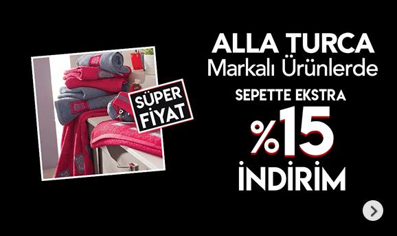 Alla Turca Markalı Ürünlerde Sepette %15 İndirim