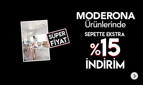 Moderona Ürünlerinde Sepette %15 İndirim