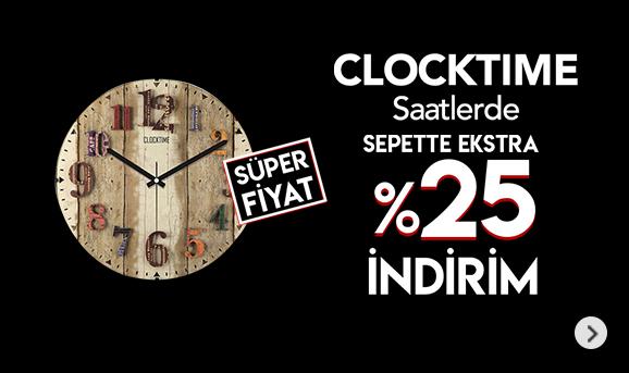 Clocktime Saatlerde Sepette %25 İndirim