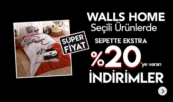 Walls Home Ürünlerinde Sepette %20'ye Varan İndirimler