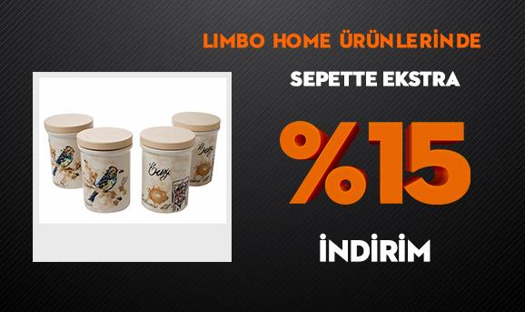 Limbo Home Ürünlerinde Sepette Ekstra %15 İndirim