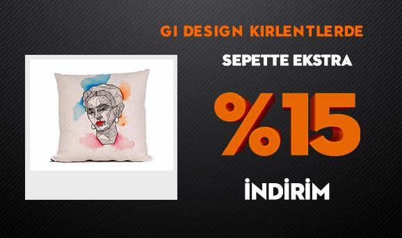 Gi Design Kırlentlerde Sepette Ekstra %15 İndirim