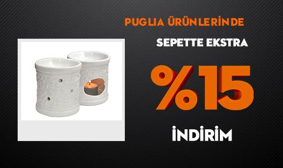 Puglia Ürünlerinde Sepette Ekstra %15 İndirim