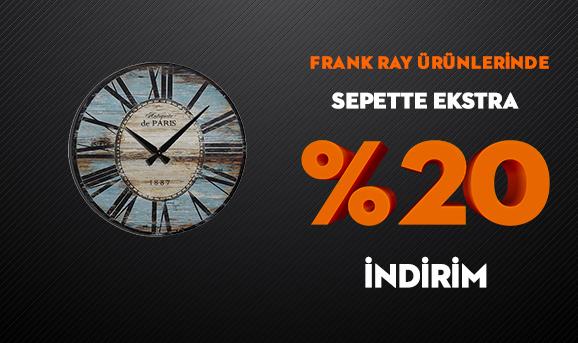 Frank Ray Ürünlerinde Sepette Ekstra %20 İndirim
