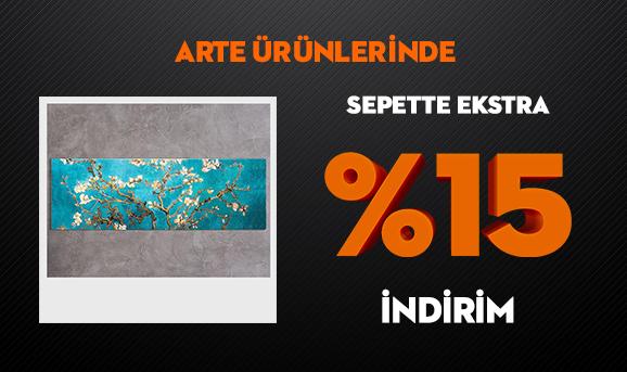 Arte Ürünlerinde Sepette Ekstra %15 İndirim