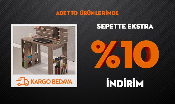 Adetto Ürünlerinde Sepette Ekstra %10 İndirim + Kargo Bedava