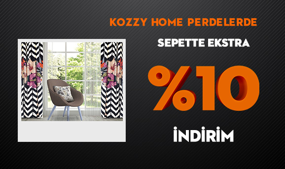 Kozzy Home Perdelerde Sepette Ekstra %10 İndirim