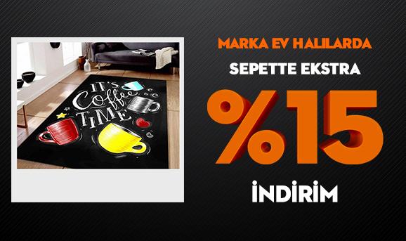 Marka Ev Halılarda Sepette Ekstra %15 İndirim