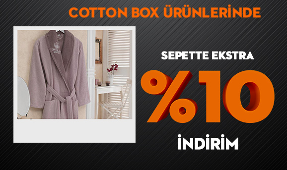 Cotton Box Ürünlerinde Sepette Ekstra %10 İndirim