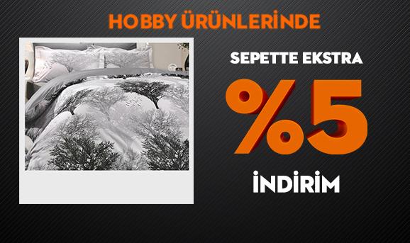 Hobby Ürünlerinde Sepette Ekstra %5 İndirim