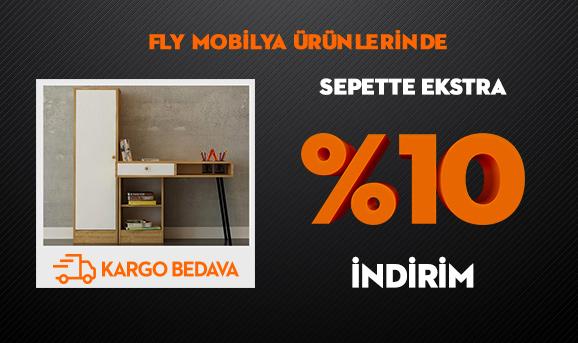 FLY Mobilya Ürünlerinde Sepette Ekstra %10 İndirim + Kargo Bedava