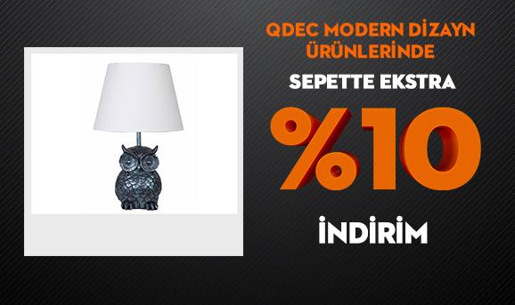 Qdec Modern Dizayn Ürünlerinde Sepette Ekstra %10 İndirim