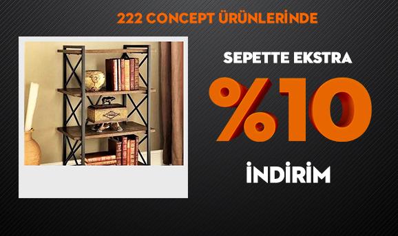222 Concept Ürünlerinde Sepette Ekstra %10 İndirim