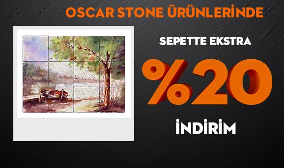 Oscar Stone Ürünlerinde Sepette Ekstra %20 İndirim