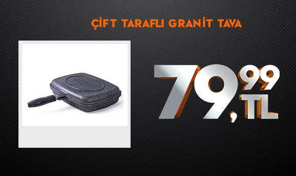 Cosiness Çift Taraflı Granit Tava 79,99 TL