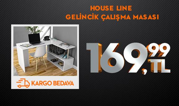House Line Fonksiyonel Gelincik Çalışma Masası 169,99 TL