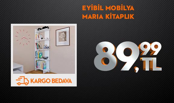 Eyibil Mobilya Maria 5 Raflı Modern Kitaplık 89,99 TL