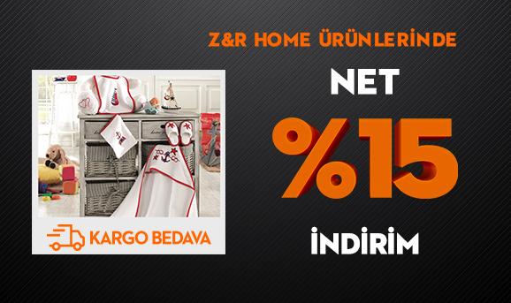 Z&R Home Ürünlerinde Net %15 İndirim + Kargo Bedava