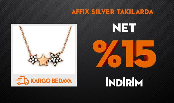 Affix Silver Takılarda Net %15 İndirim + Kargo Bedava